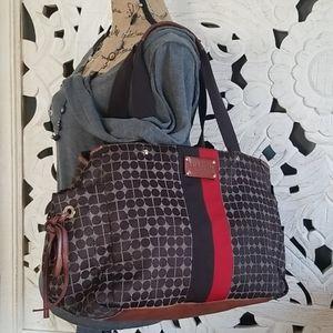 Kate Spade Large Tote Duffel Bag Leather Trim